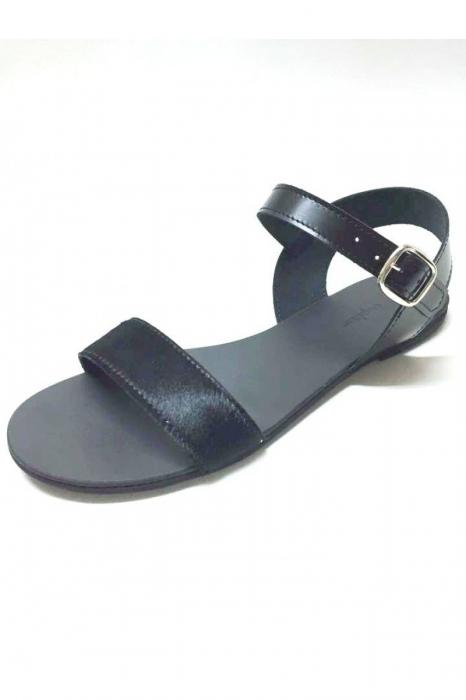 Sandale de dama din piele Black Pony Fanny 1