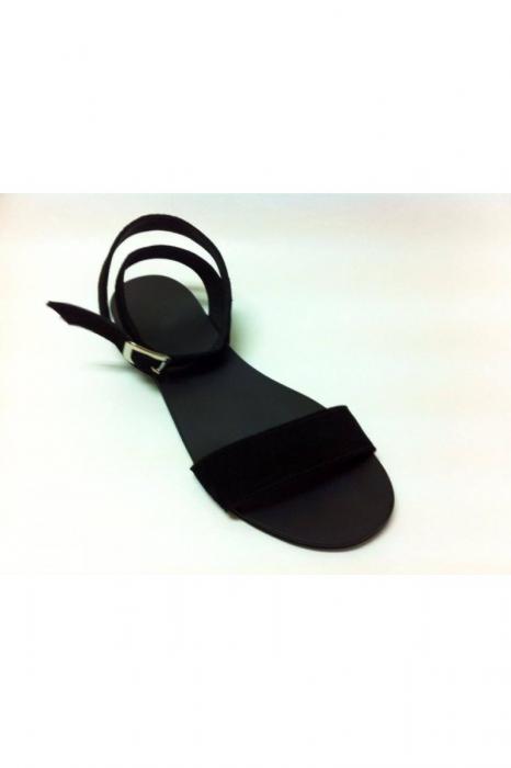 Sandale de dama din piele Black Velvet 1