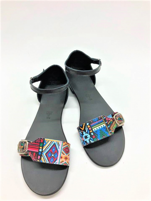 Sandale dama din piele Traditional Pattern Ada 0