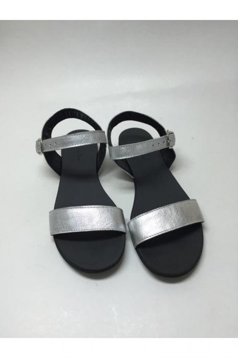 Sandale de dama din piele Silver Fanny 1