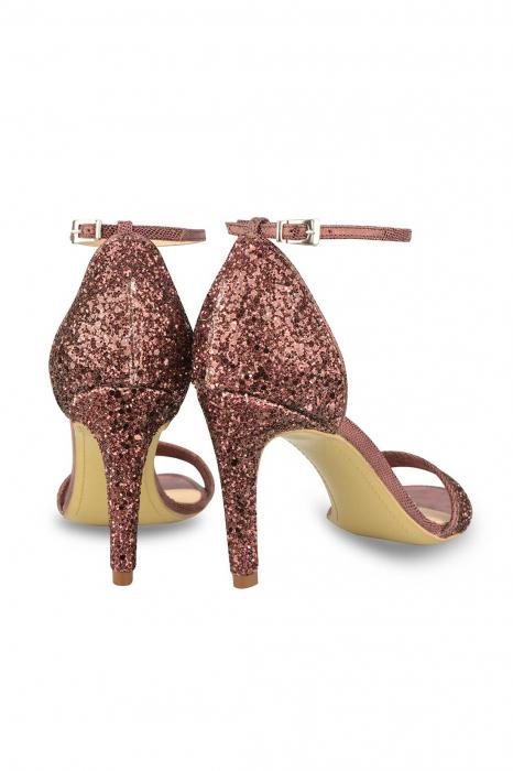 Sandale Mihai Albu din piele Burgundy Glitter 2