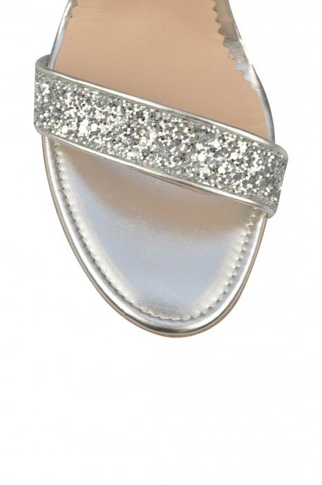 Sandale Mihai Albu din piele High Silver Glitter 3
