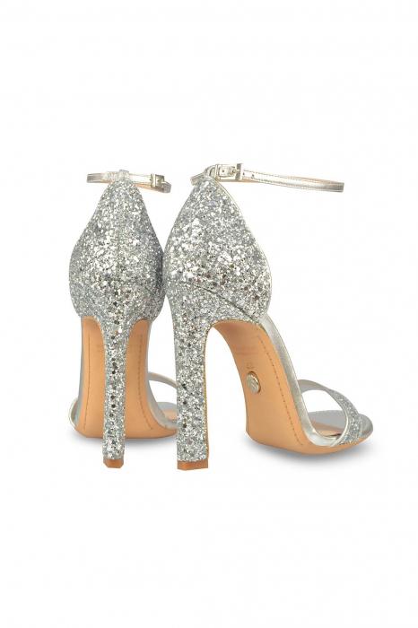 Sandale Mihai Albu din piele High Silver Glitter 2