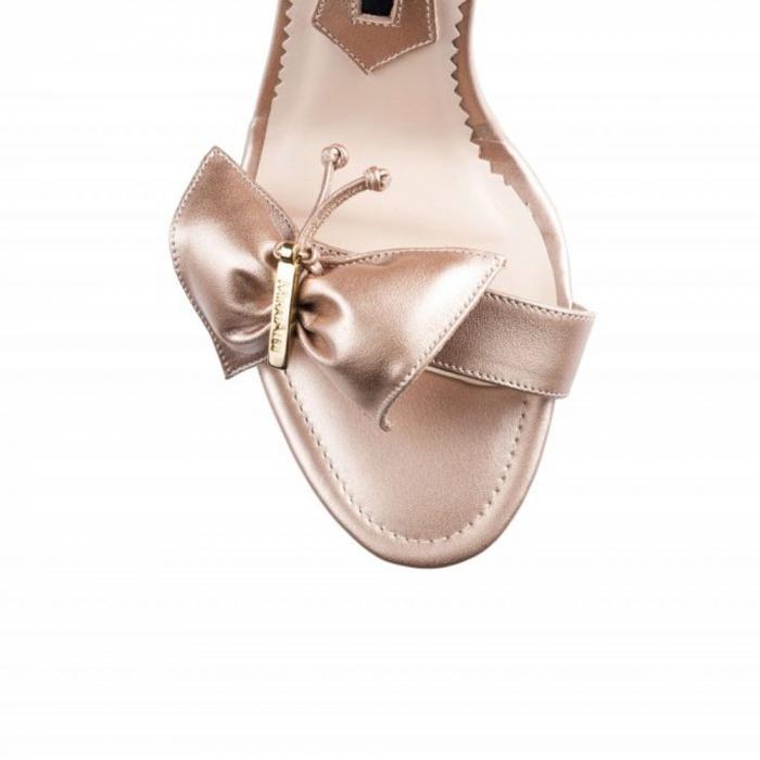 Sandale Mihai Albu din piele Pearl Butterfly 2