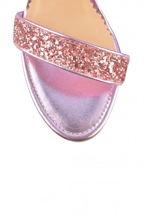 Sandale Mihai Albu din piele Pink Glitter 3