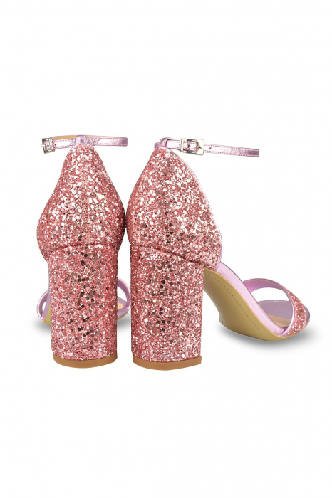 Sandale Mihai Albu din piele Pink Glitter 2