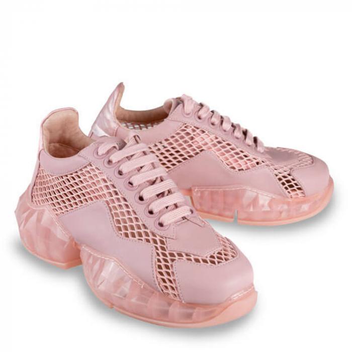 Sneakersi Mihai Albu Pink Diamond din piele naturala 1