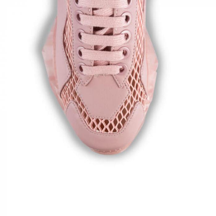 Sneakersi Mihai Albu Pink Diamond din piele naturala 3