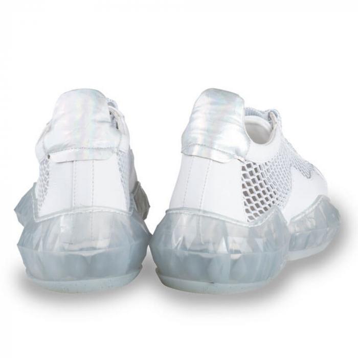 Sneakersi Mihai Albu White Diamond din piele naturala 2