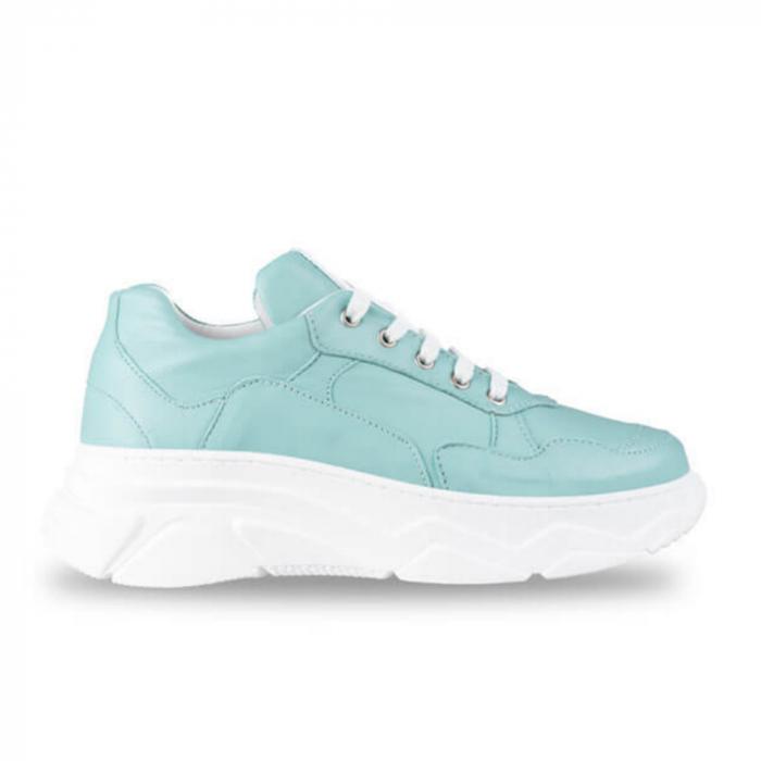 Sneakersi Mihai Albu Aqua din piele naturala 0