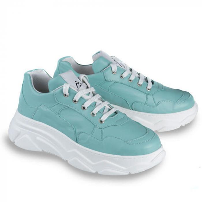 Sneakersi Mihai Albu Aqua din piele naturala 1