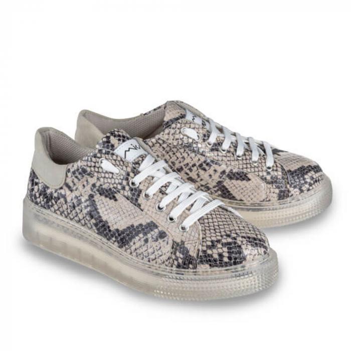 Sneakersi Mihai Albu Python din piele naturala 1