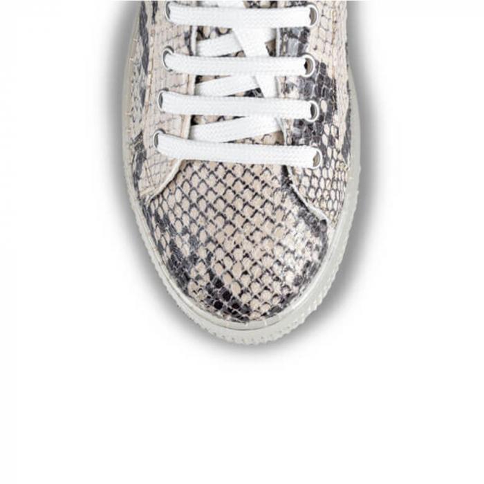 Sneakersi Mihai Albu Python din piele naturala 3