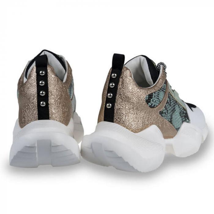 Sneakersi Mihai Albu Wild Green din piele naturala 2