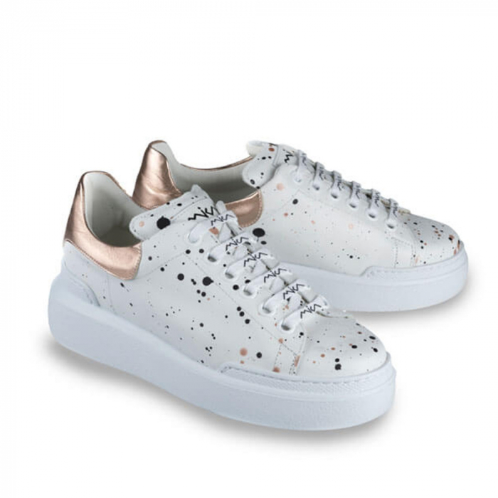 Sneakersi Mihai Albu Spots din piele naturala 1