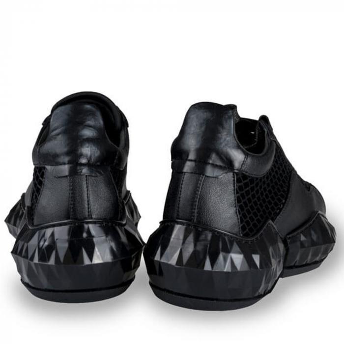 Sneakersi Mihai Albu Black Diamond din piele naturala 2