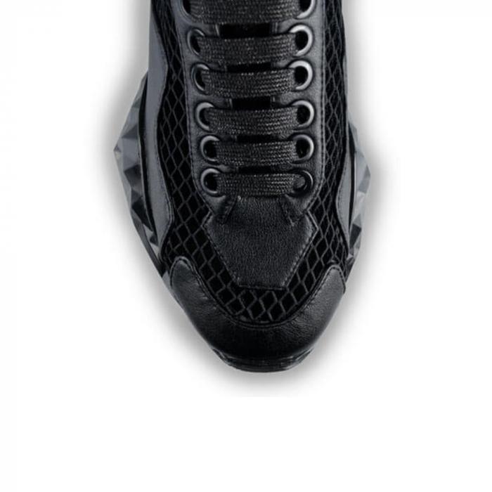 Sneakersi Mihai Albu Black Diamond din piele naturala 3