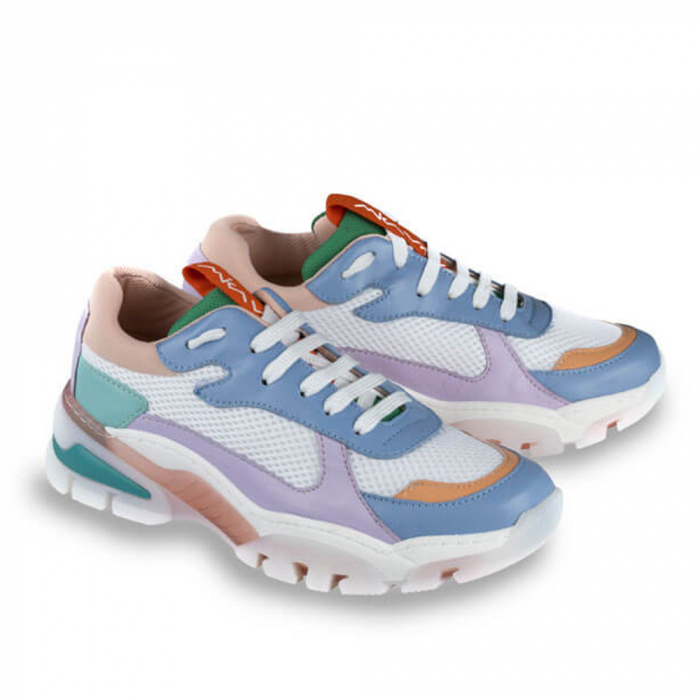 Sneakersi Mihai Albu Rainbow din piele naturala 1