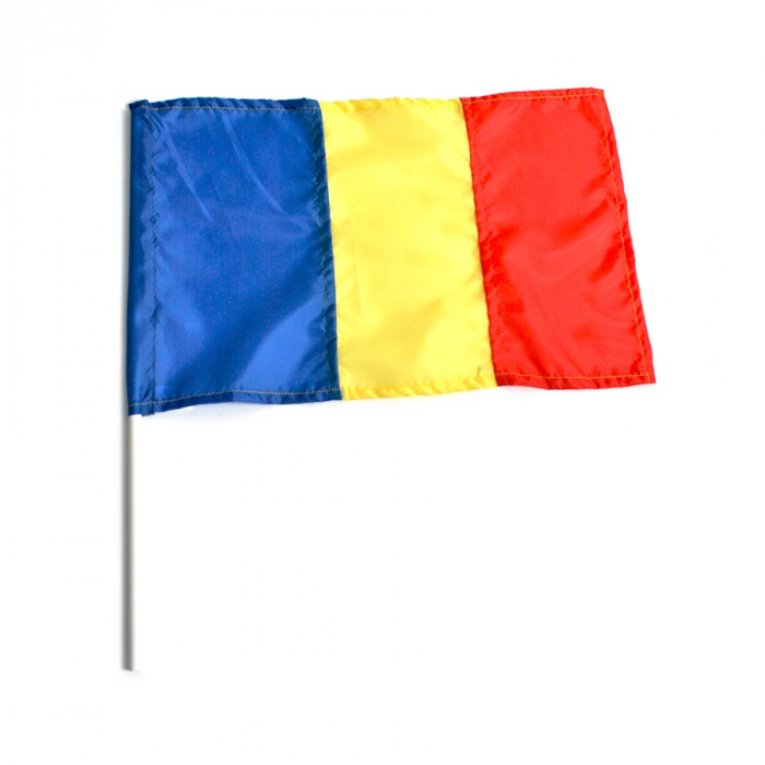 Steag Romania 20x36 cm, cu bat din plastic 0