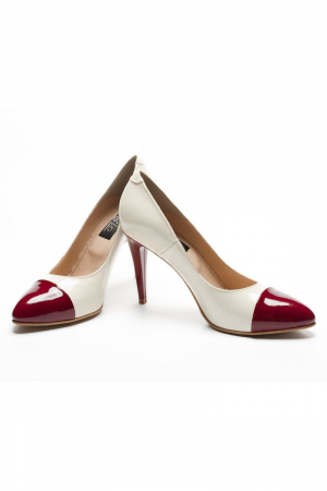 Pantofi dama din piele naturala Luana Marsala1