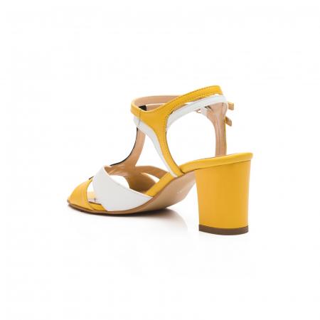 Sandale din piele naturala cu toc jos CA483