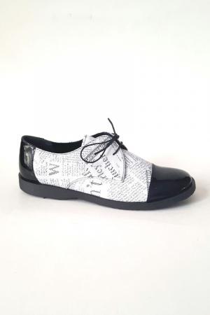 Pantofi din piele Oxford Pam Paper0