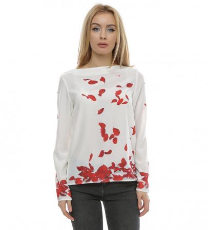 Bluza cu imprimeu petale trandafir B1000