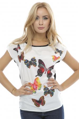 Bluza dama cu model imprimat fluturi B890