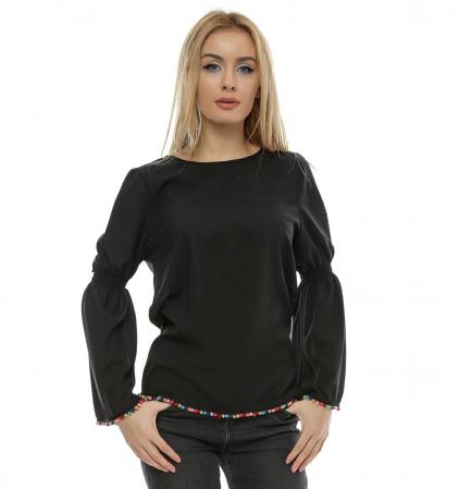 Bluza neagra cu maneci clopot B950