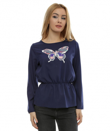 Bluza cu aplicatie fluture brodat B990