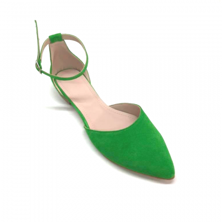 Balerini dama din piele intoarsa Green Lara, 40 [3]