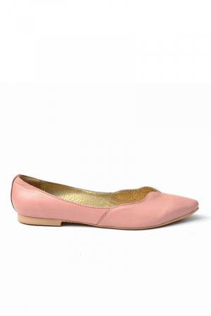 Balerini dama din piele Pale Pink0