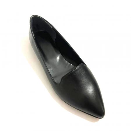 Loafers dama din piele naturala Black Merry0