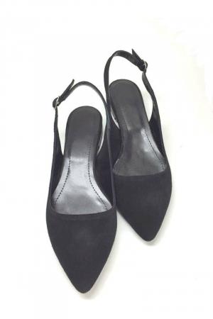 Balerini decupati din piele Black Velvet Lia [1]