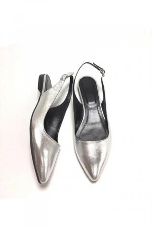 Balerini decupati din piele Silver Lia [1]
