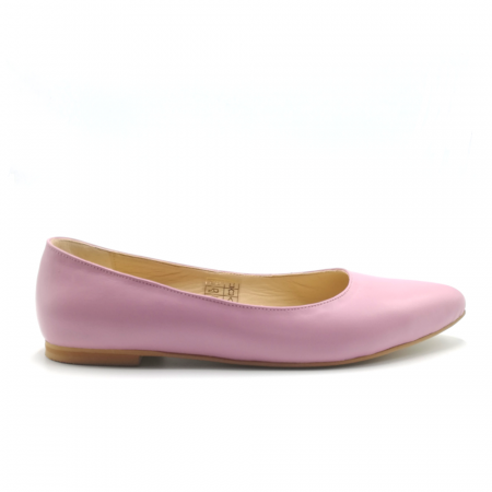 Balerini din piele naturala Pink CA050