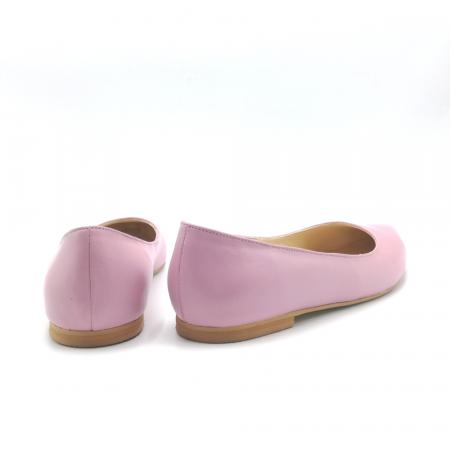Balerini din piele naturala Pink CA052