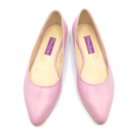 Balerini din piele naturala Pink CA053