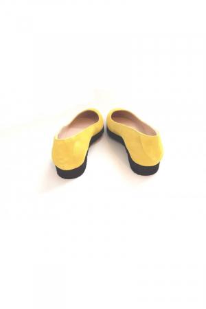 Balerini din piele Yellow Cora1