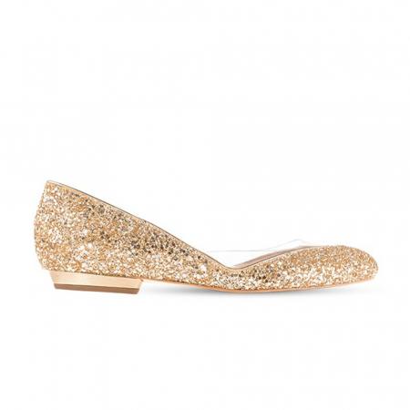 Balerini Mihai Albu din piele Gold Glamour [0]