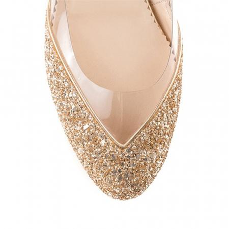 Balerini Mihai Albu din piele Gold Glamour [3]