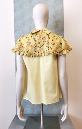 Bluza galbena cu maneca scurta si guler tip camasa [2]