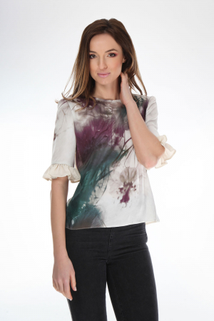 Bluza casual cu imprimeu abstract