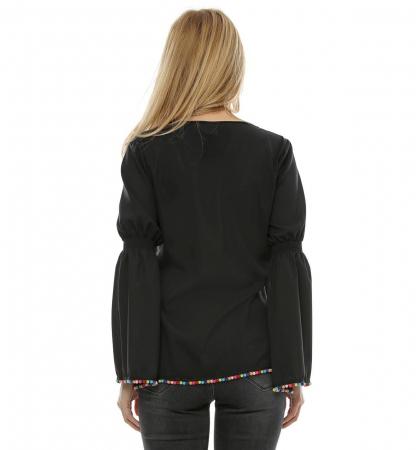 Bluza neagra cu maneci clopot B952