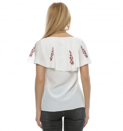Bluza cu print digital motive florale B104