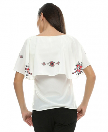 Bluza cu print digital motive traditionale B722