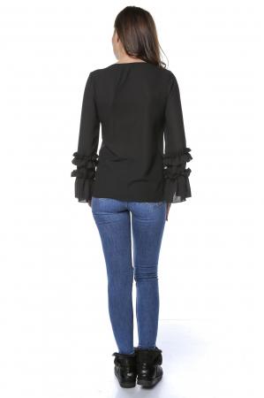 Bluza dama din vascoza Black B127 [1]
