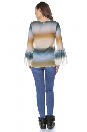 Bluza dama din vascoza Multicolor B125