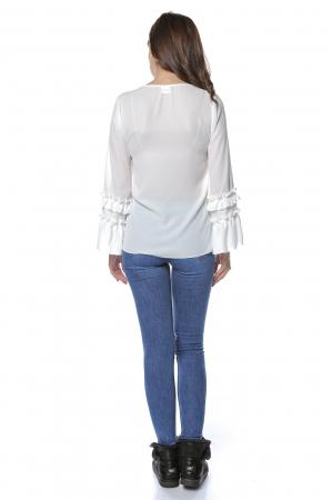 Bluza dama din vascoza White B123 [2]
