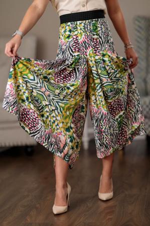 Pantaloni culottes vaporosi multicolori Clara [3]
